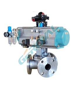 Y-type three-way ball valve